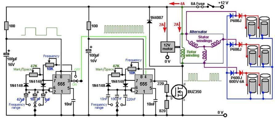 Эл. схема электролизера